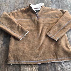 NWT True Grit Faux Fur 1/4 Zip Sherpa Lining L